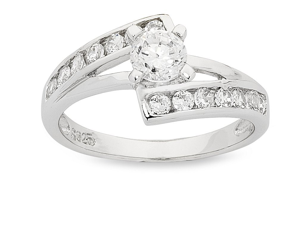 Sterling Silver Cubic Zirconia Multi Setting Ring
