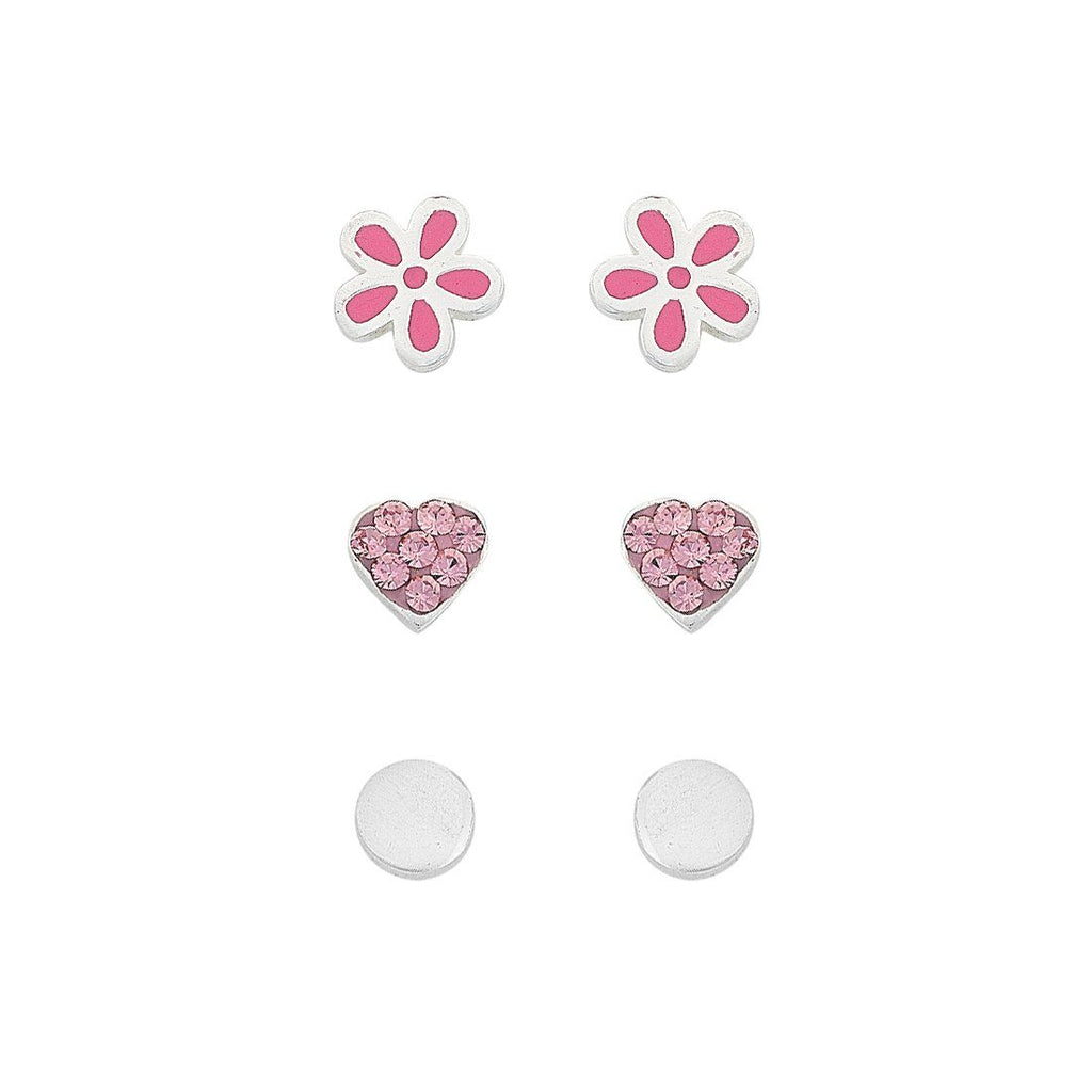 Children's Three Earrings Set in Sterling Silver Earrings Bevilles
