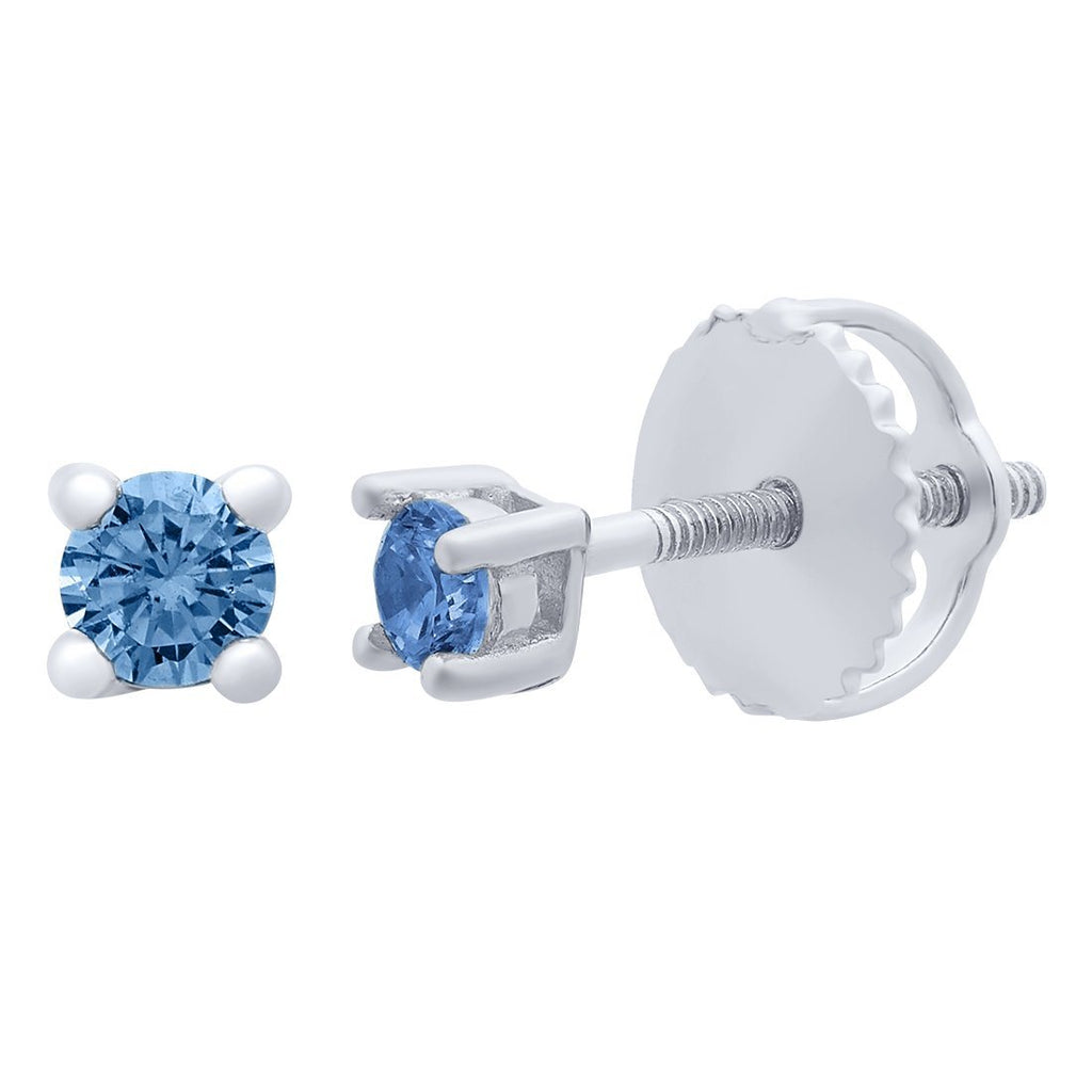 Children's Blue Cubic Zirconia Stud Earrings Earrings Bevilles