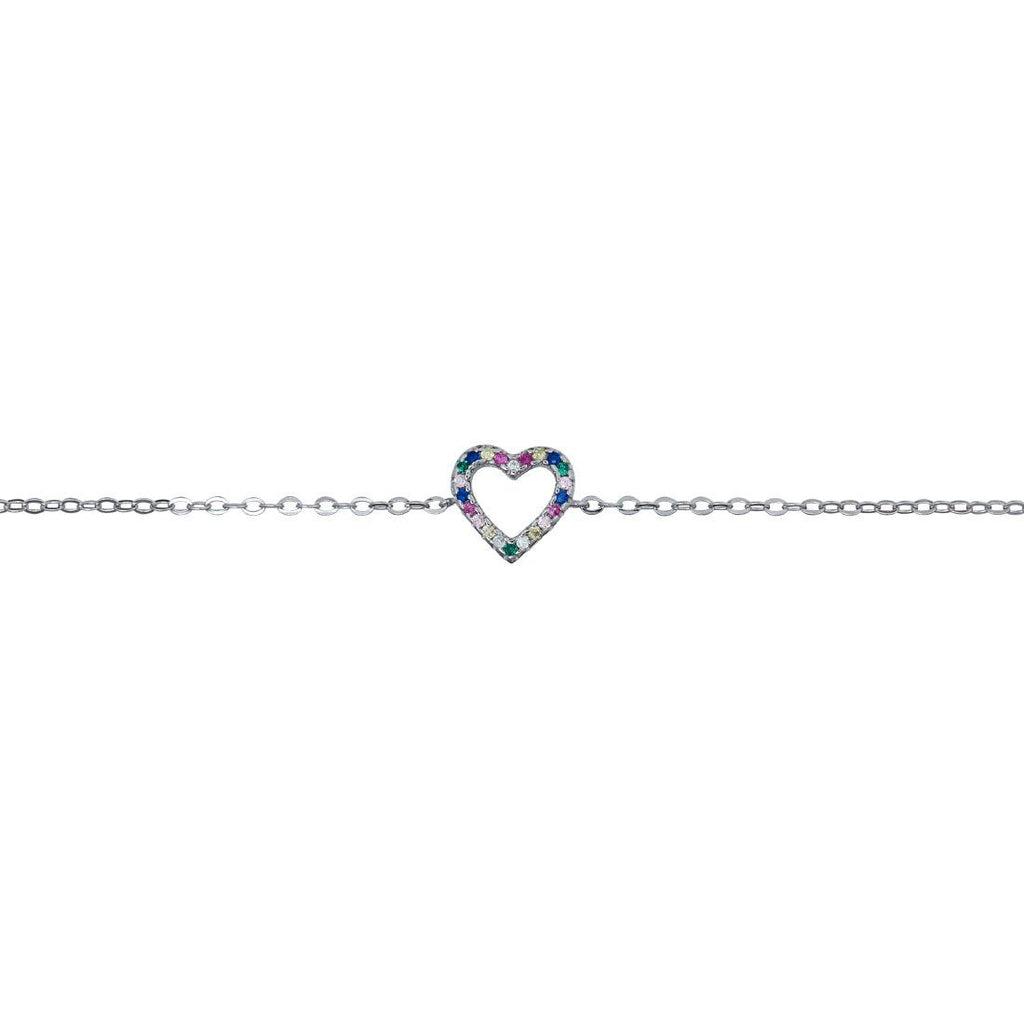 Children's Multi Colour Heart Bracelet Bracelets Bevilles