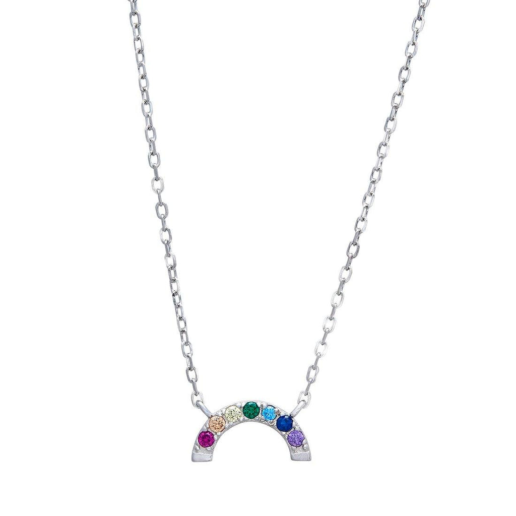 Children's Rainbow Sterling Silver Necklace Necklaces Bevilles