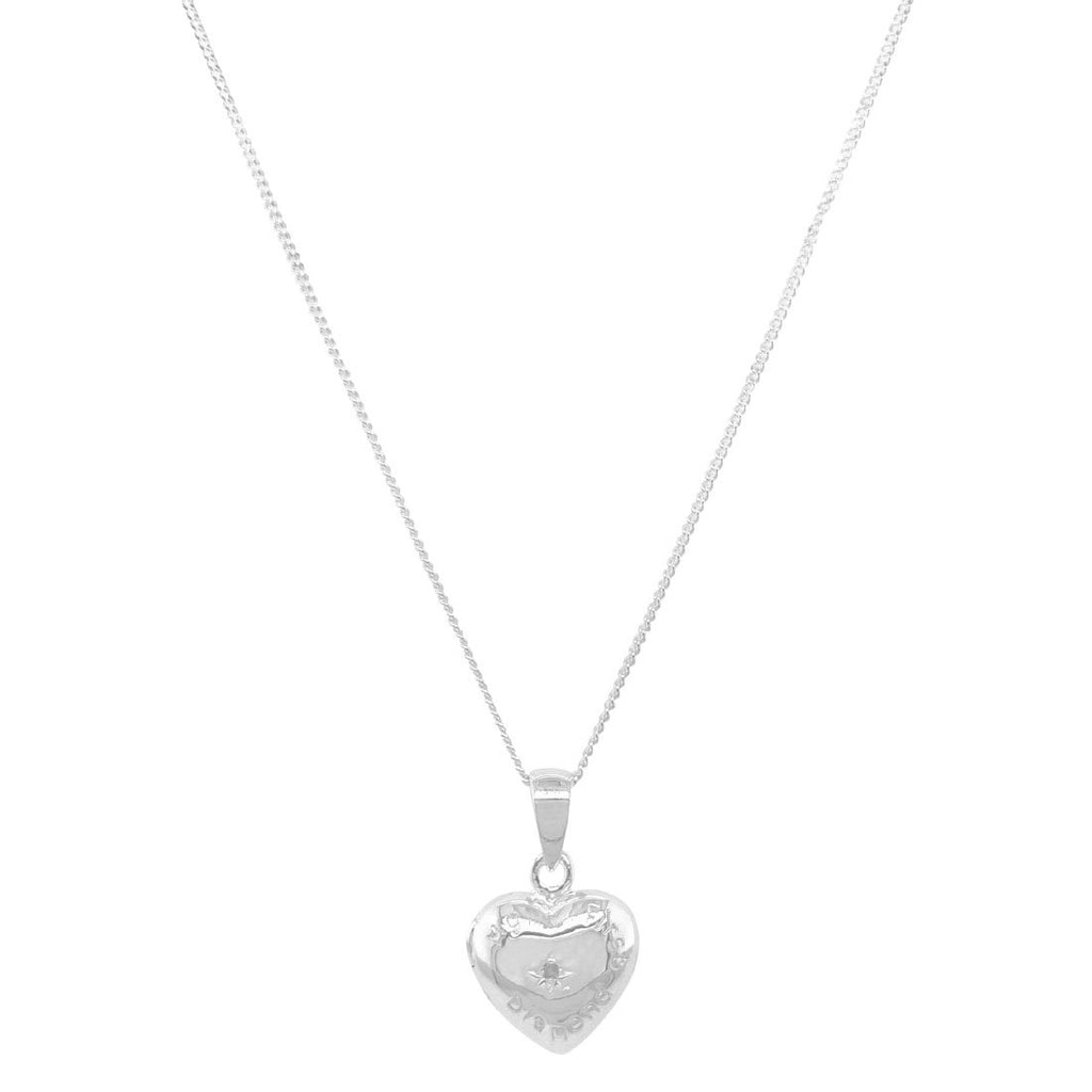 Children's Sterling Silver 'My First Diamond' Locket Necklace