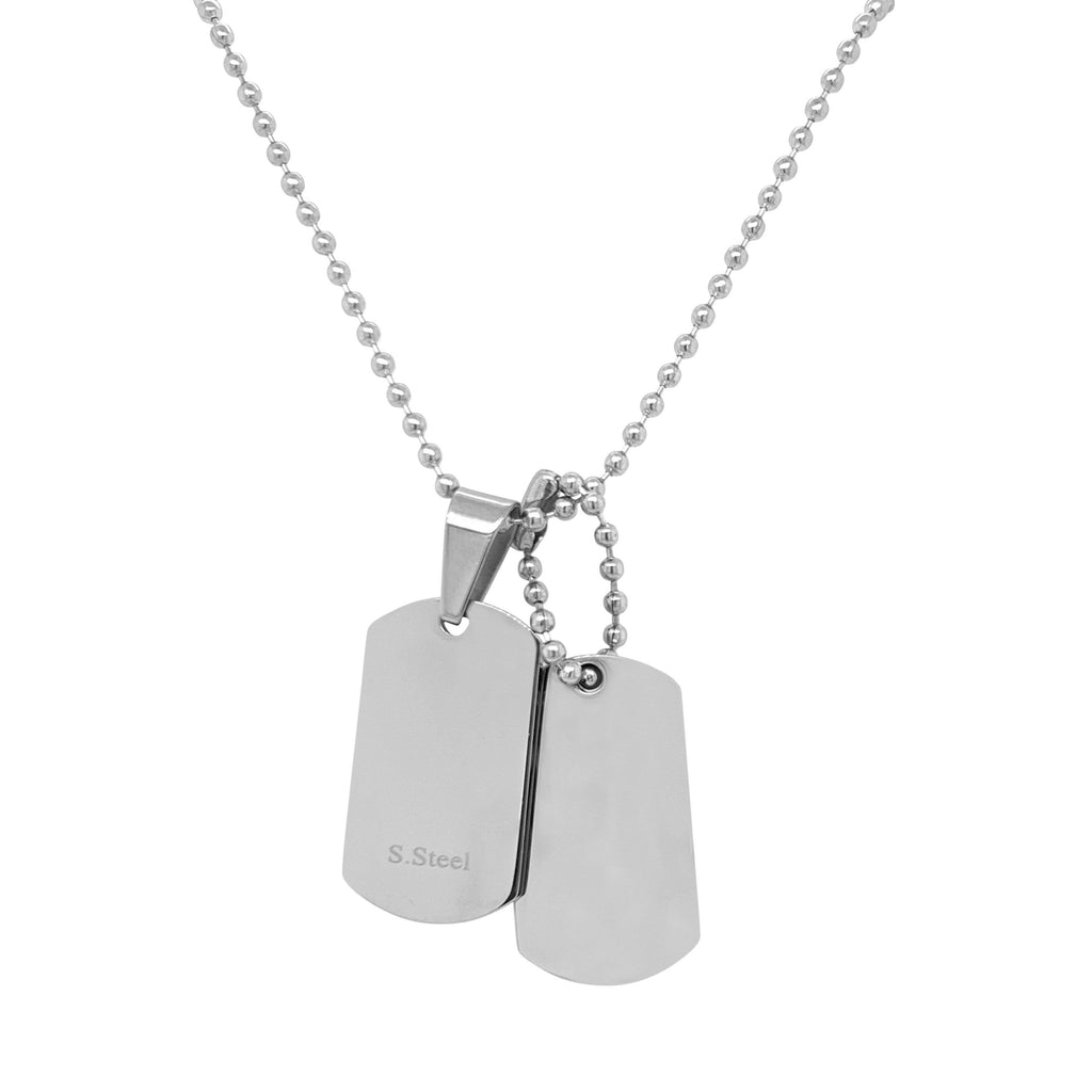 Children's Stainless Steel Dog Tag Necklace Necklaces Bevilles