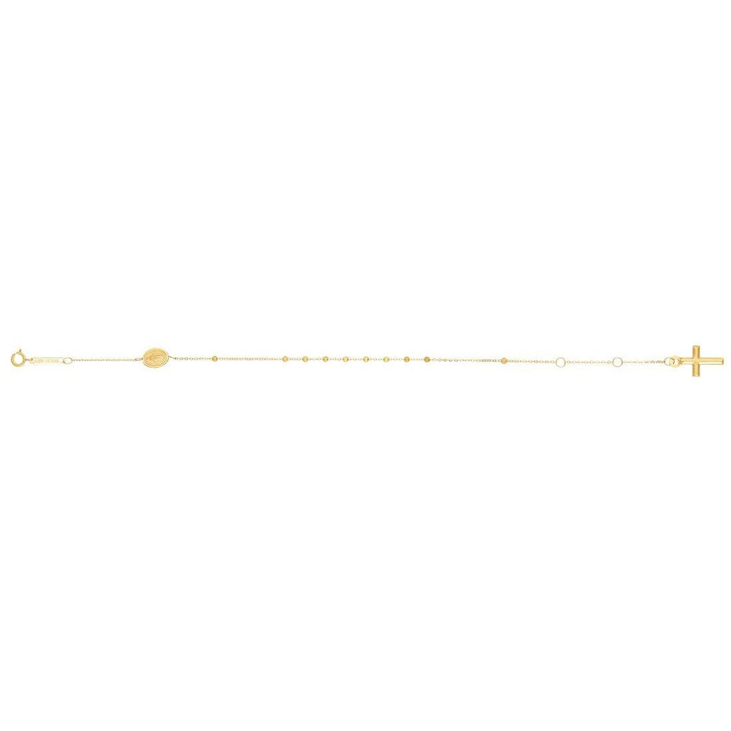 Children's Religious Rosary Bracelet in 9ct Yellow Gold Bracelets Bevilles