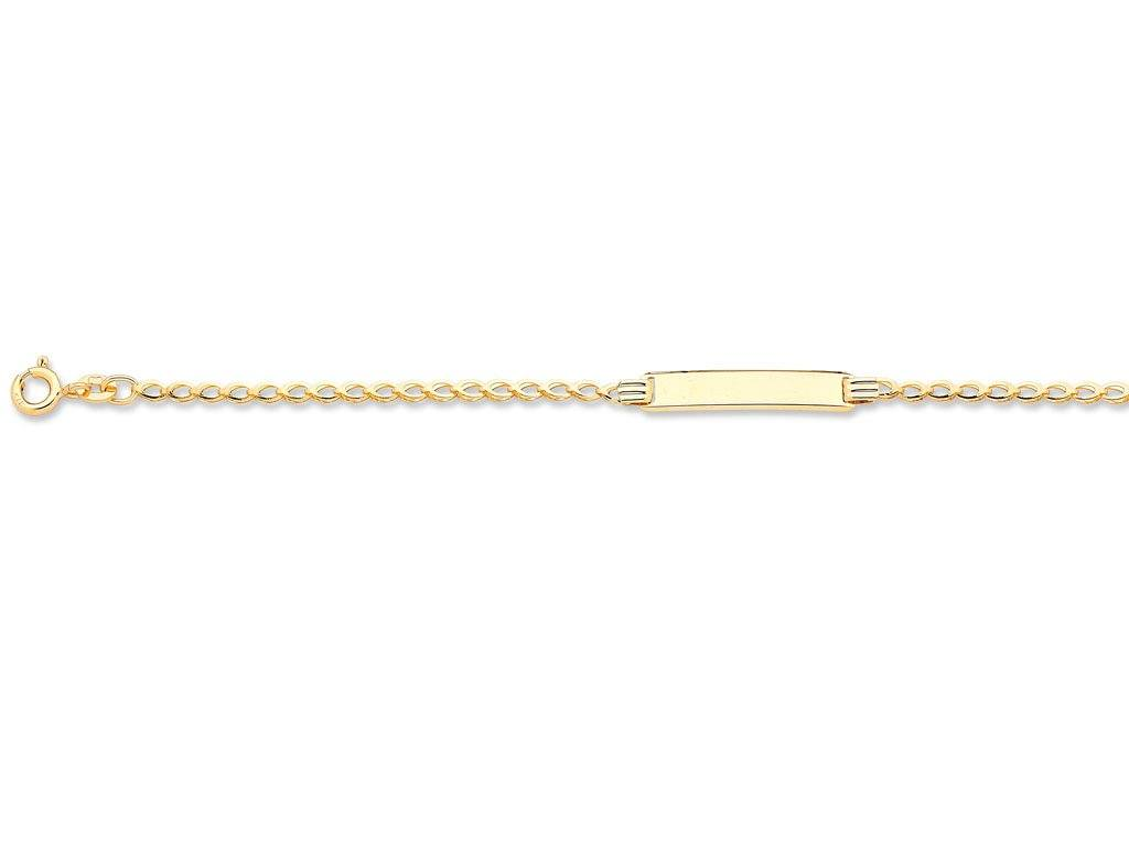 Children's 9ct Yellow Gold ID Bracelet