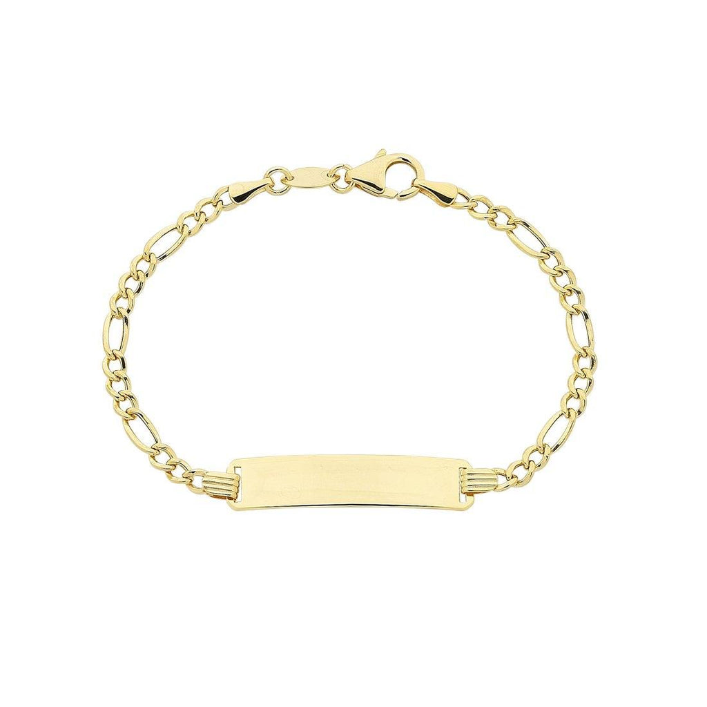 Children's 9ct Yellow Gold Silver Infused ID Bracelet