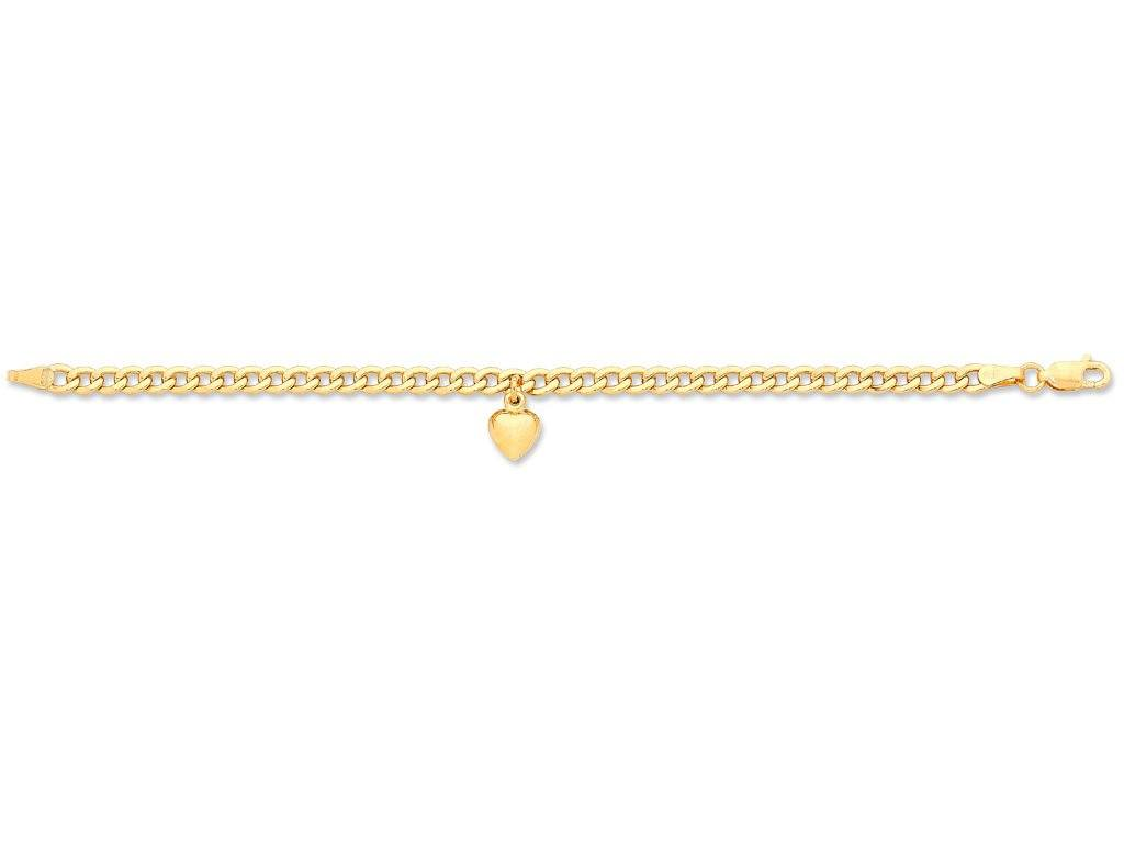Children's 9ct Yellow Gold Silver Infused Bracelet
