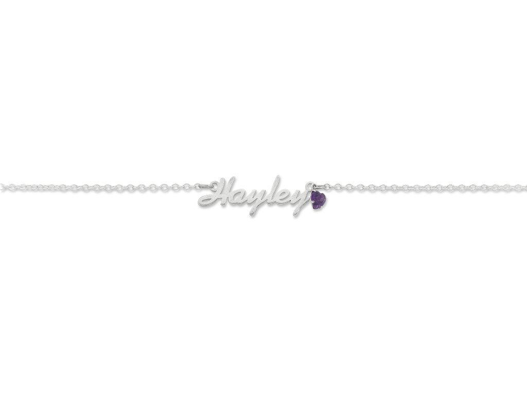 Sterling Silver Personalised Name Necklace Scroll Font Necklaces Bevilles