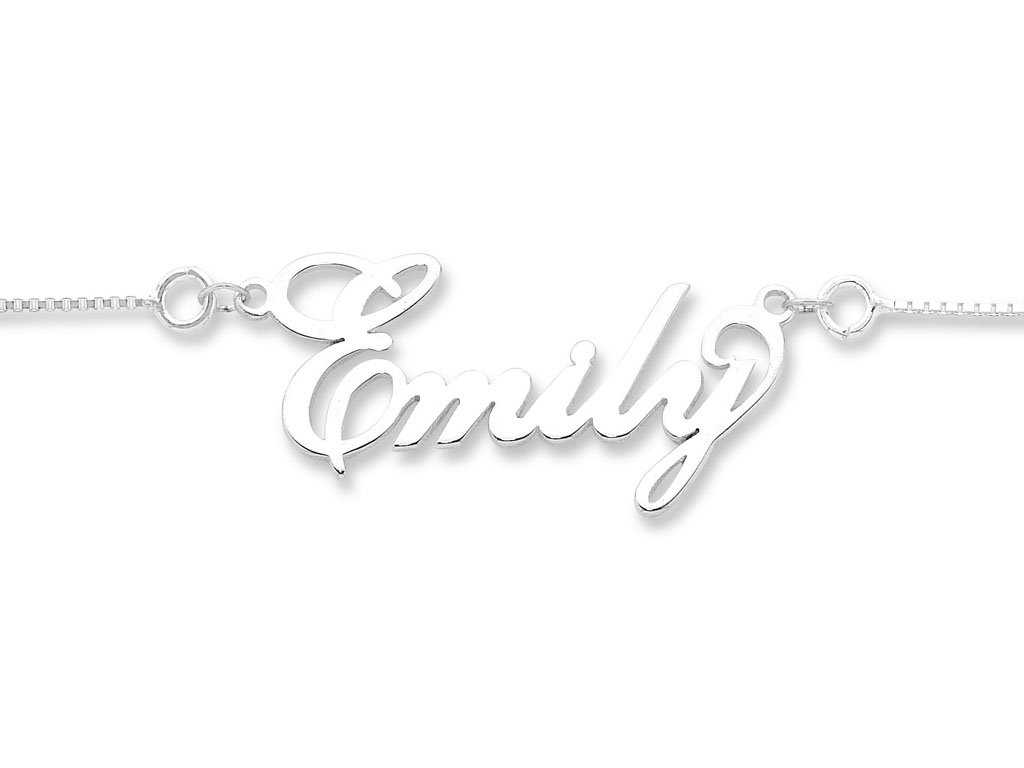 Sterling Silver Personalised Name Necklace Necklaces Bevilles