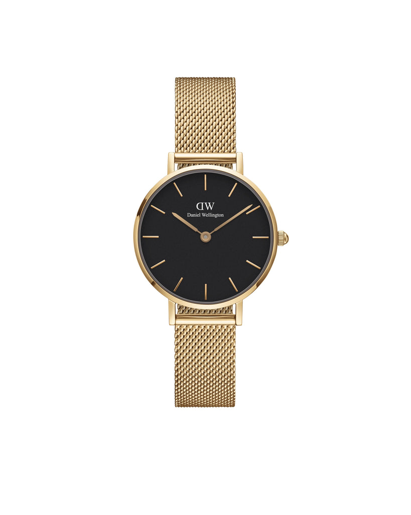 Petite 28 Evergold G Black Watches Daniel Wellington