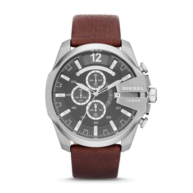 Diesel Mega Chief Brown Chronograph Watch-DZ4290 Watches Diesel