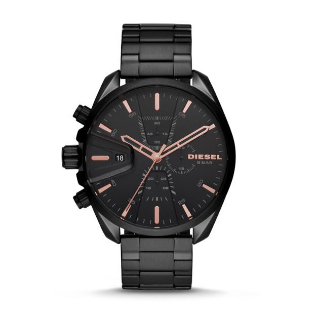 Diesel MS9 Black Chronograph Watch-DZ4524 Watches Diesel