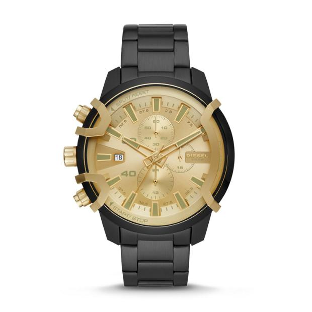 Diesel Griffed Black Chronograph Watch-DZ4525 Watches Diesel