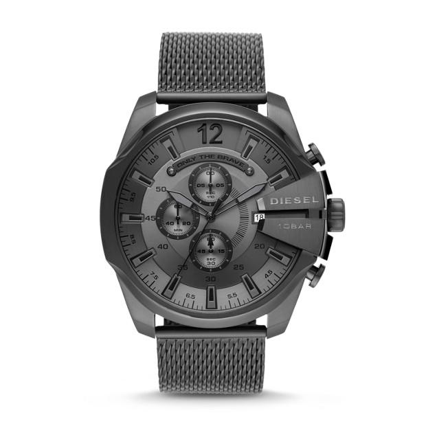 Diesel Mega Chief Gunmetal Chronograph Watch-DZ4527 Watches Diesel