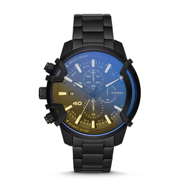 Diesel Griffed Black Chronograph Watch-DZ4529 Watches Diesel