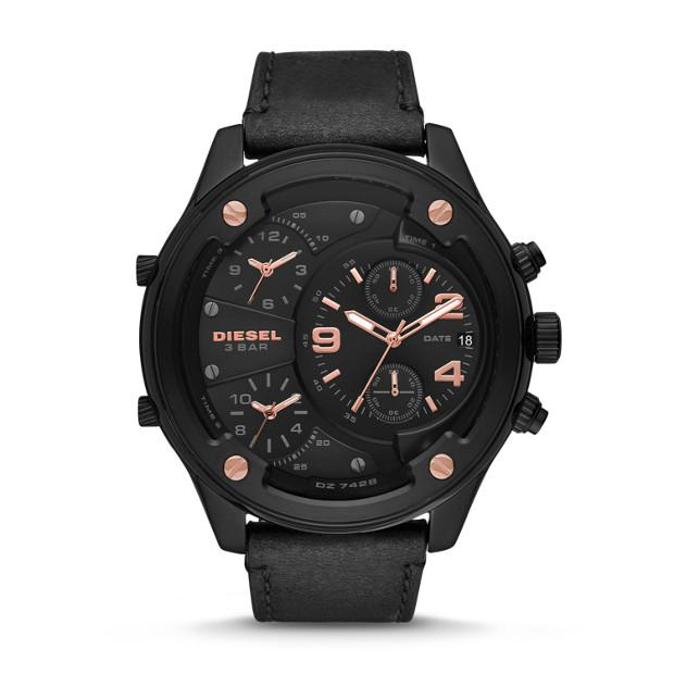 Diesel Boltdown Black Chronograph Watch-DZ7428 Watches Diesel