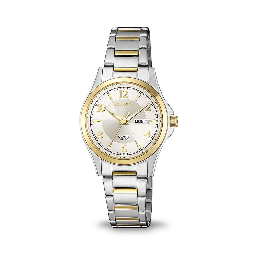 Citizen Womens Two Tone Watch EQ0595-55A Watches Citizen