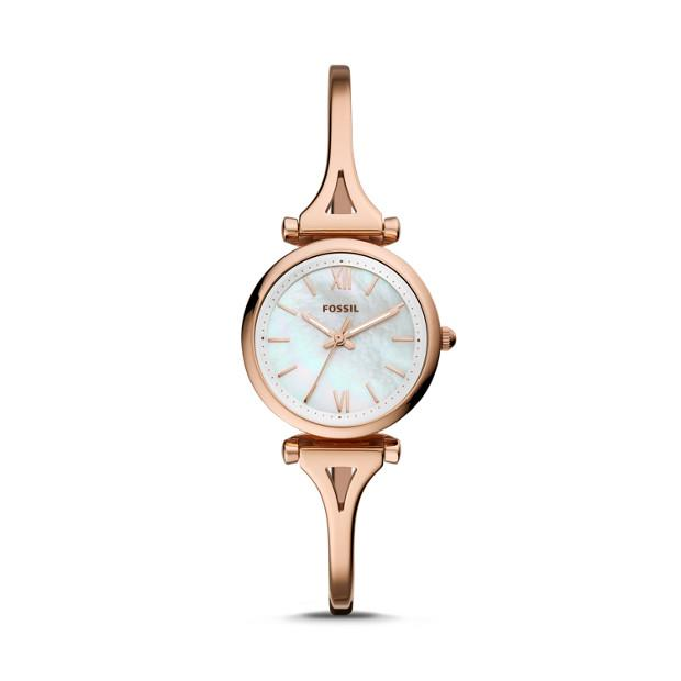 Fossil Carlie Rose Gold-Tone Analogue Watch