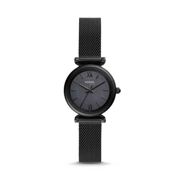 Fossil Carlie Mini Black Analogue Watch Watches Fossil