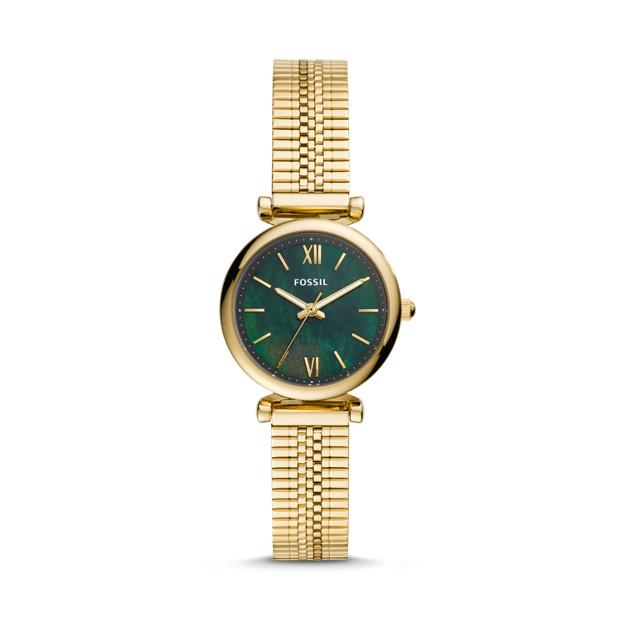 Fossil Carlie Mini Gold-Tone Analogue Watch Watches Fossil