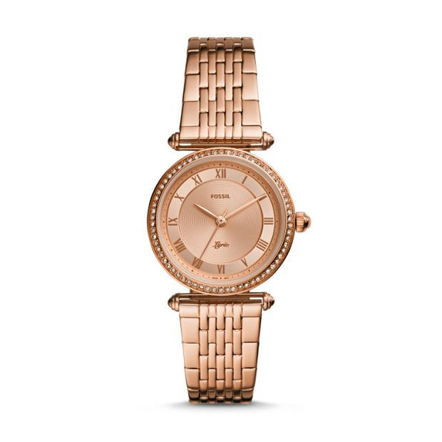 Fossil Lyric Rose Gold-Tone Analogue Watch Watches Fossil