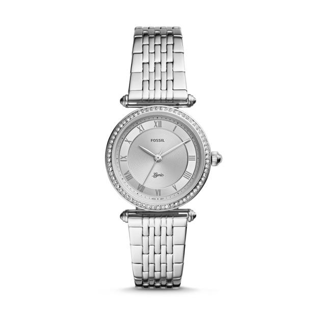 Fossil Lyric Silver-Tone Analogue Watch Watches Fossil