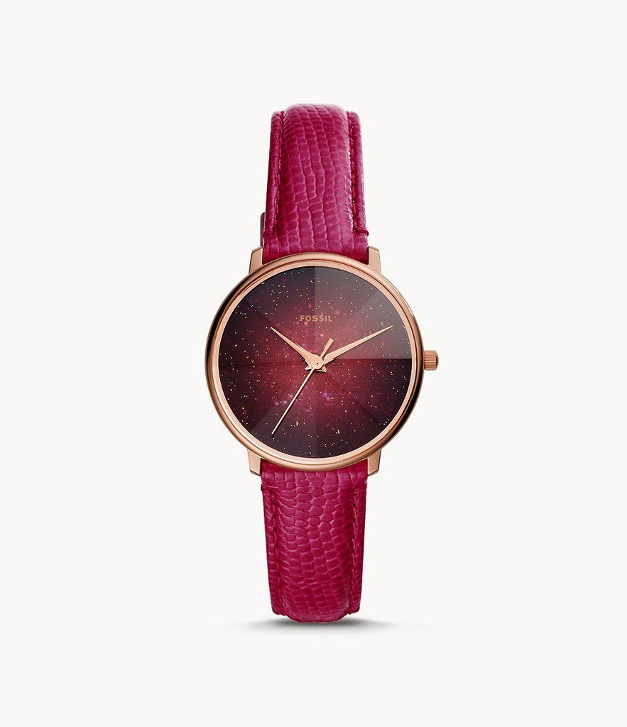 Fossil Prismatic Galaxy Red Analogue Watch Watches Fossil