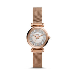 Fossil Carlie Mini Rose Gold-Tone Analogue Watch