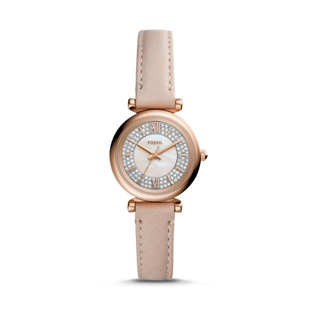 Fossil Carlie Mini Nude Analogue Watch Watches Fossil