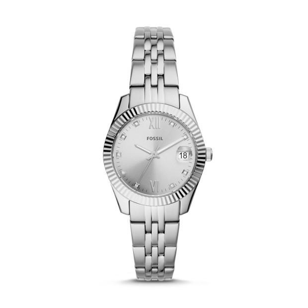 Fossil Scarlette Mini Silver-Tone Analogue Watch Watches Fossil