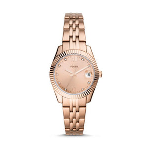 Fossil Scarlette Mini Rose Gold-Tone Analogue Watch