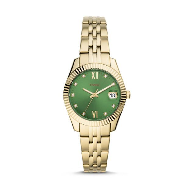 Fossil Scarlette Mini Gold-Tone Analogue Watch Watches Fossil