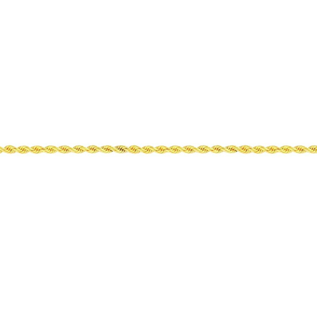 9ct Yellow Gold Silver Filled Rope Necklace 45cm Necklaces Bevilles