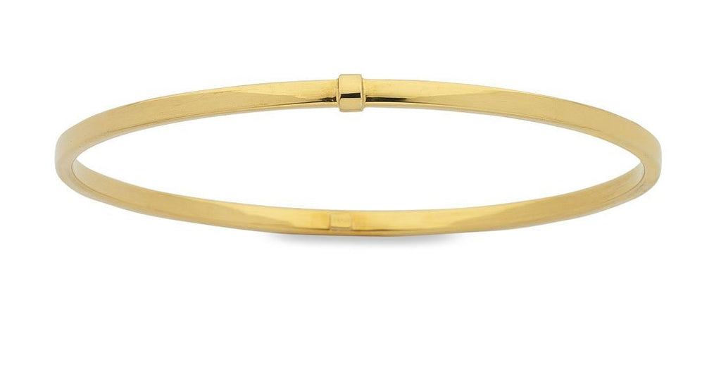 9ct Yellow Gold Silver Infused Bangle