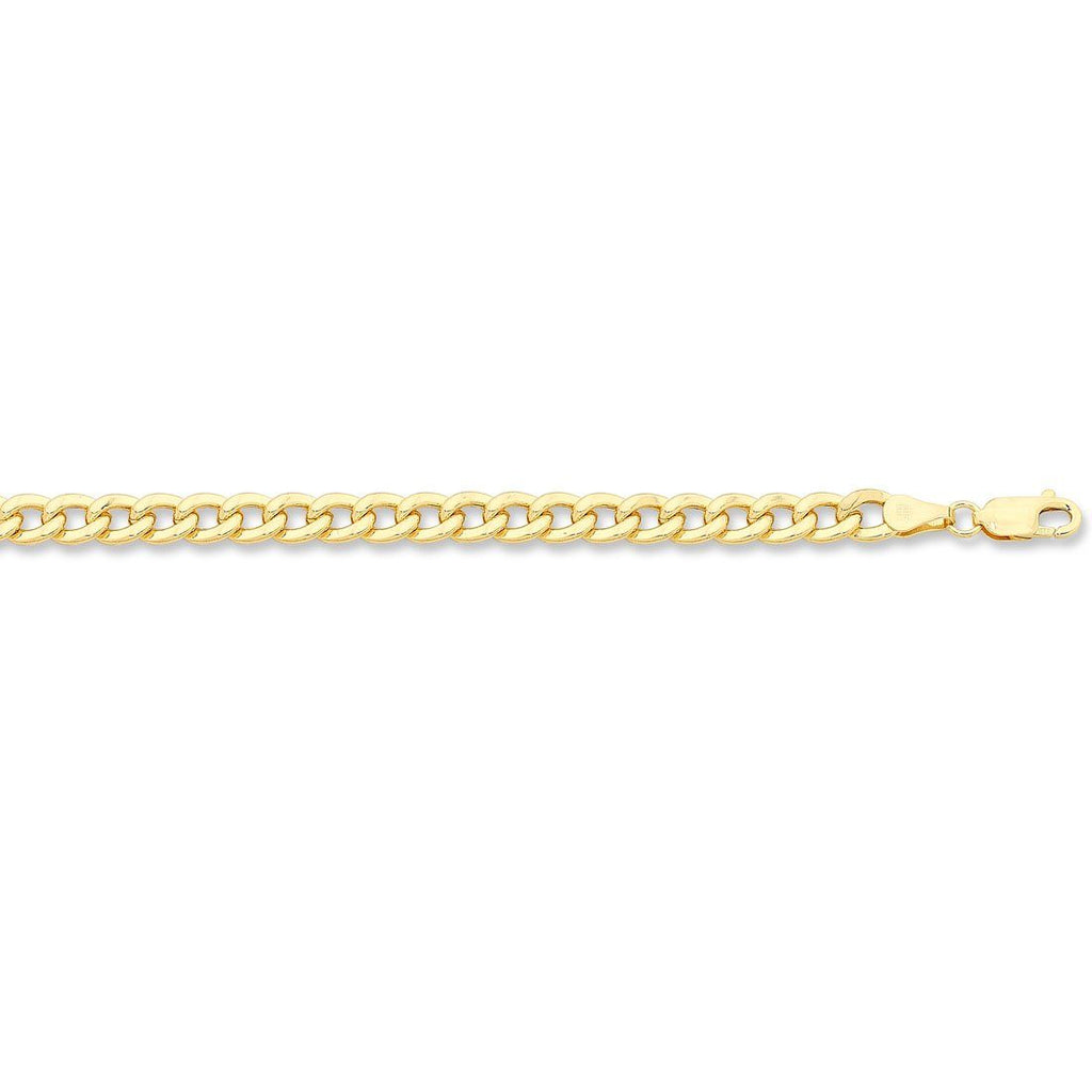 9ct Yellow Silver Infused 19cm Bracelet