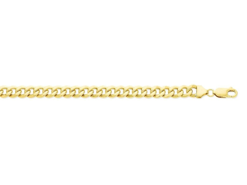 9ct Yellow Gold Silver Infused Curb Bracelet 21cm Bracelets Bevilles