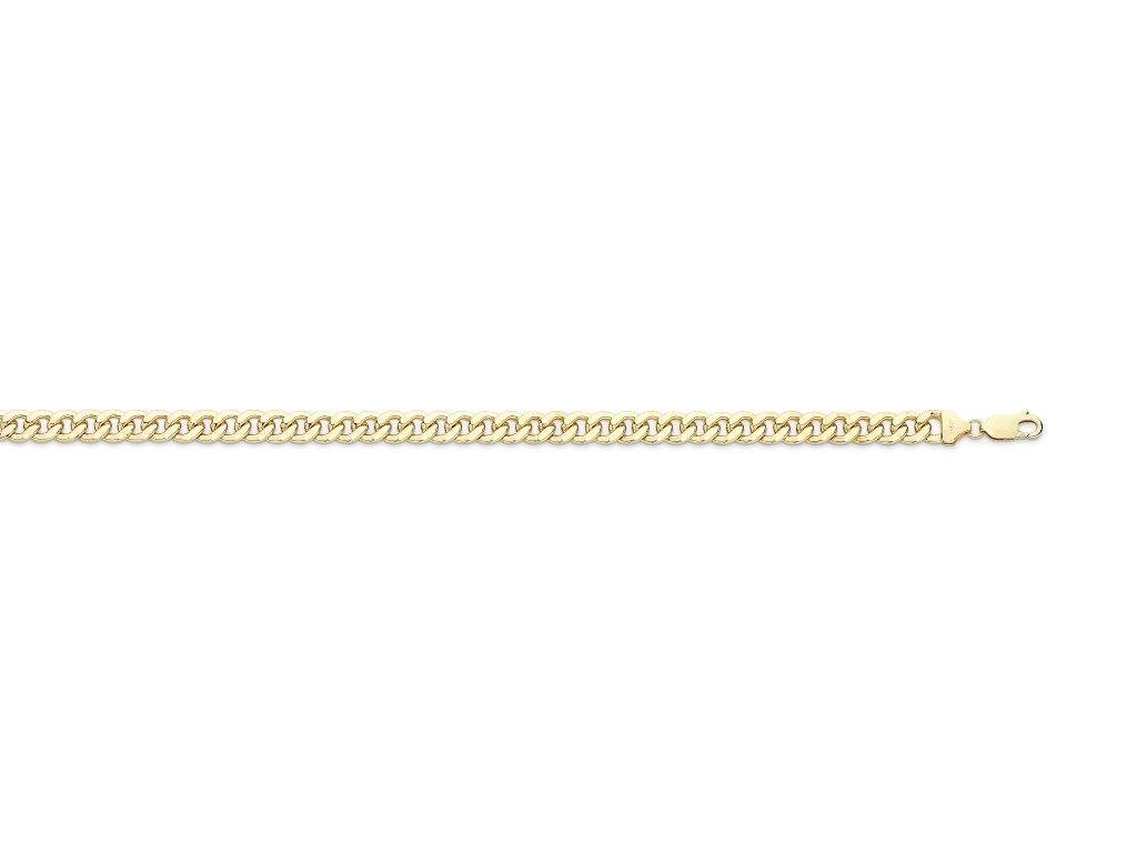 9ct Yellow Gold Silver Infused Curb Bracelet