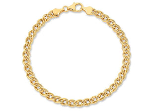 9ct Gold Silver Infused Bracelet