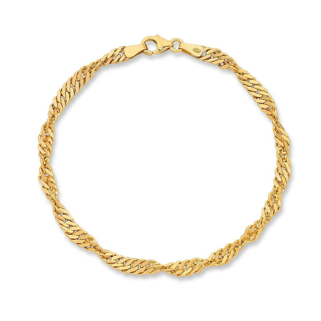 9ct Yellow Gold Silver Infused Bracelet