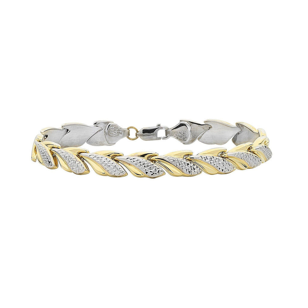 9ct Two Tone Silver Infused Bracelet Bracelets Bevilles