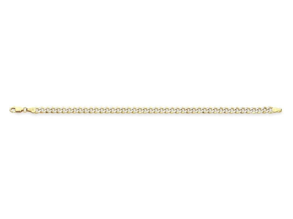 9ct Two Tone Gold Silver Infused Bracelet