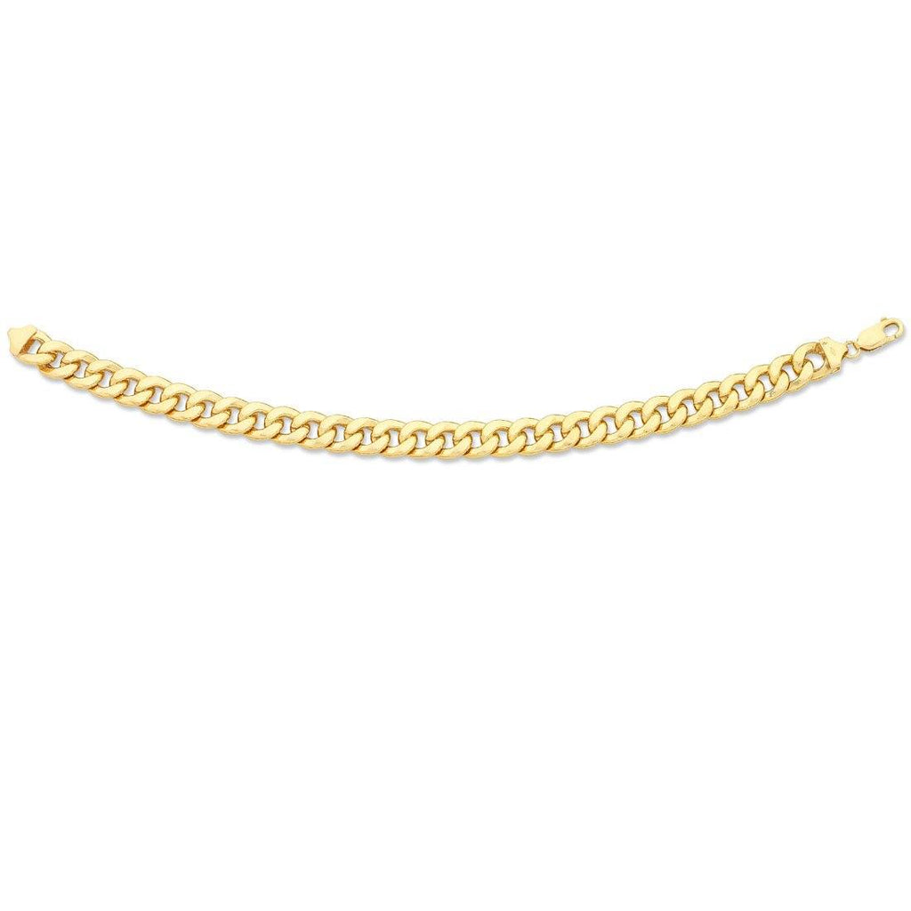 9ct Yellow Gold Silver Infused Bracelet 23cm Bracelets Bevilles