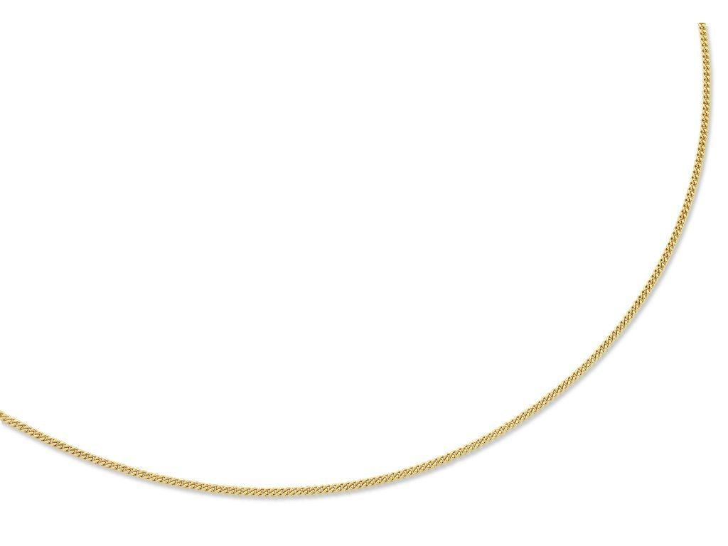 9ct Yellow Gold Silver Infused Curb Necklace 45cm