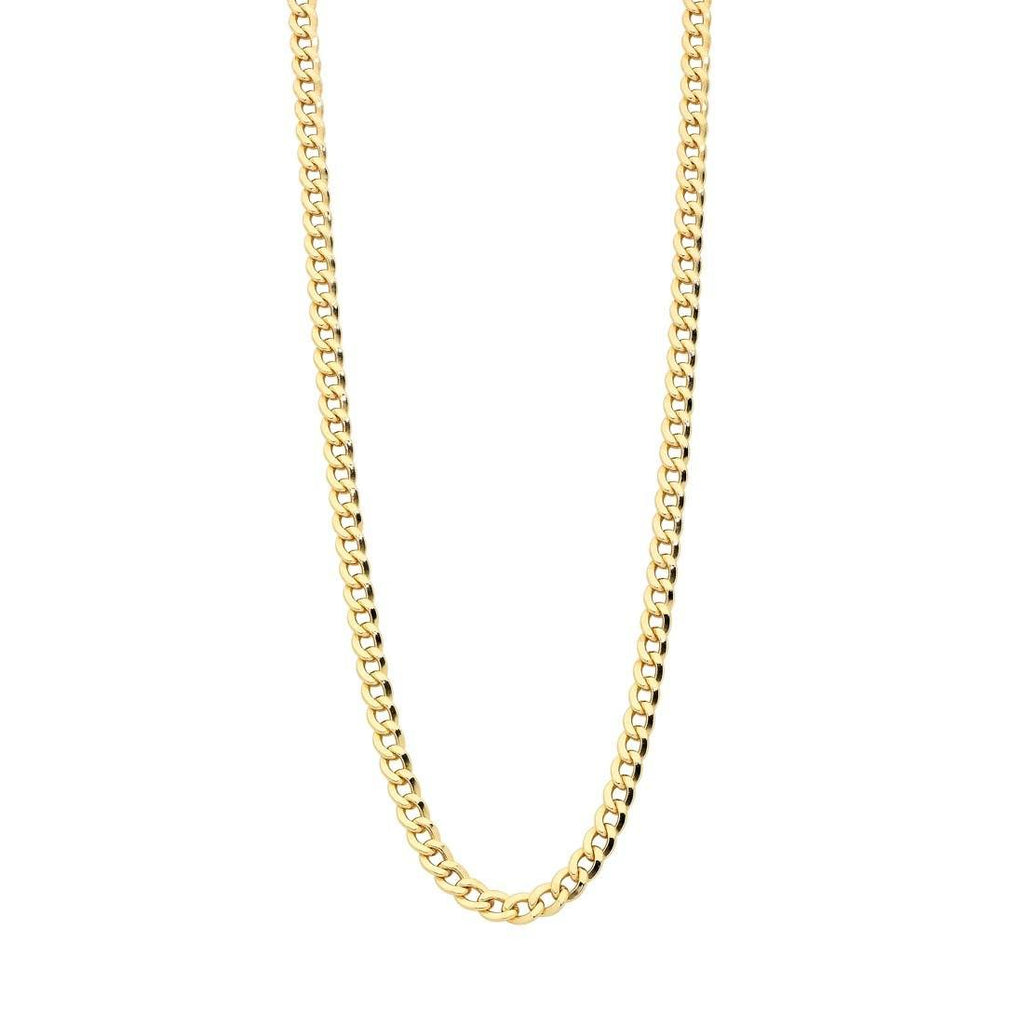 9ct Yellow Gold Silver Infused 50cm Necklace Necklaces Bevilles