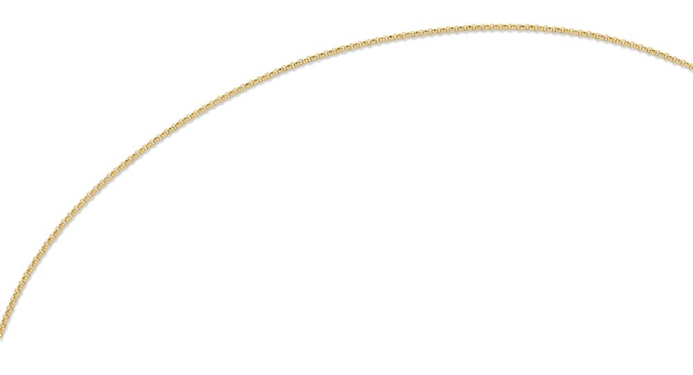 9ct Yellow Gold Silver Infused 45cm Necklace