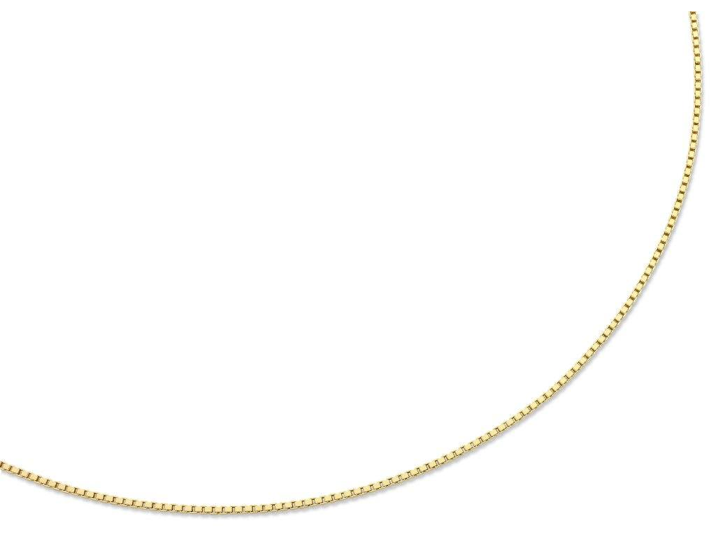 9ct Yellow Gold Silver Infused Necklace 45cm