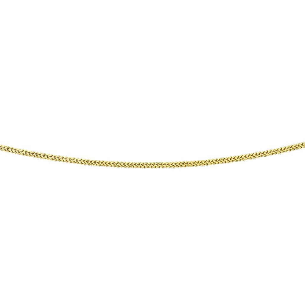 9ct Yellow Gold Silver Infused 50cm Necklace