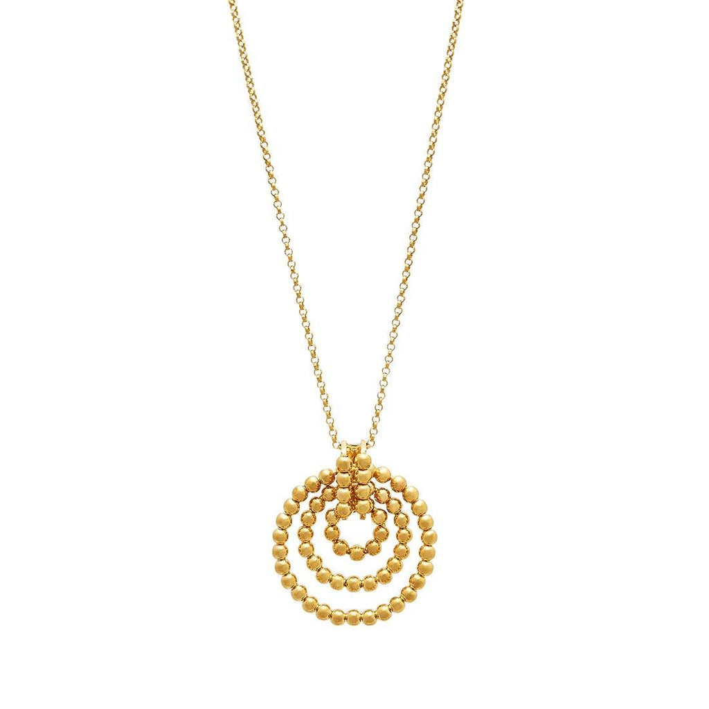 9ct Yellow Gold Rolo Bead Pendant Necklace Necklaces Bevilles