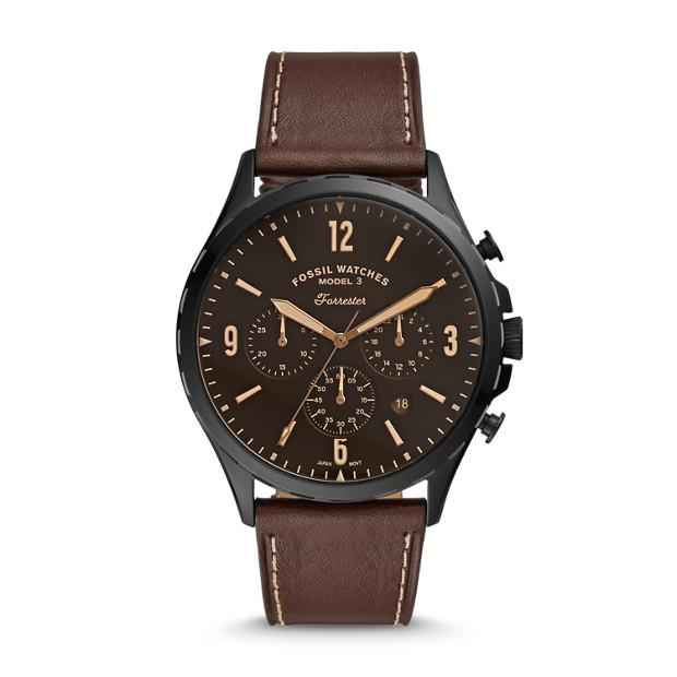 Fossil Forrester Brown Chronograph Watch FS5608 Watches Fossil