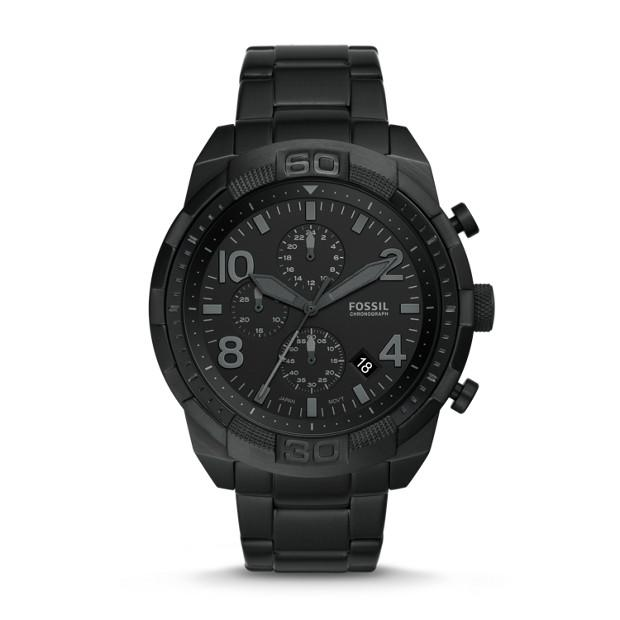 Fossil Bronson Black Chronograph Watch Watches Fossil